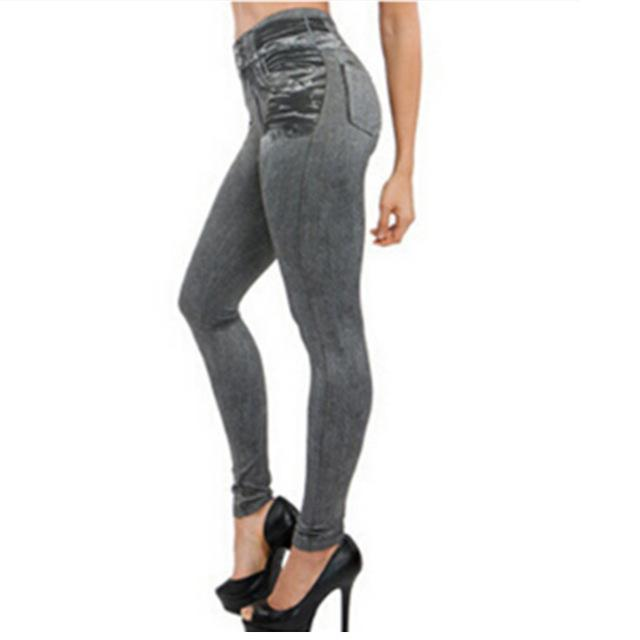 Clothing Gray / S US 4-6) Hot Jeans for Women Denim Pants with Pocket Pull Cashmere Body Imitation Cowboy Slim Leggings Women Fitness Dropshipping (US 4-20W)