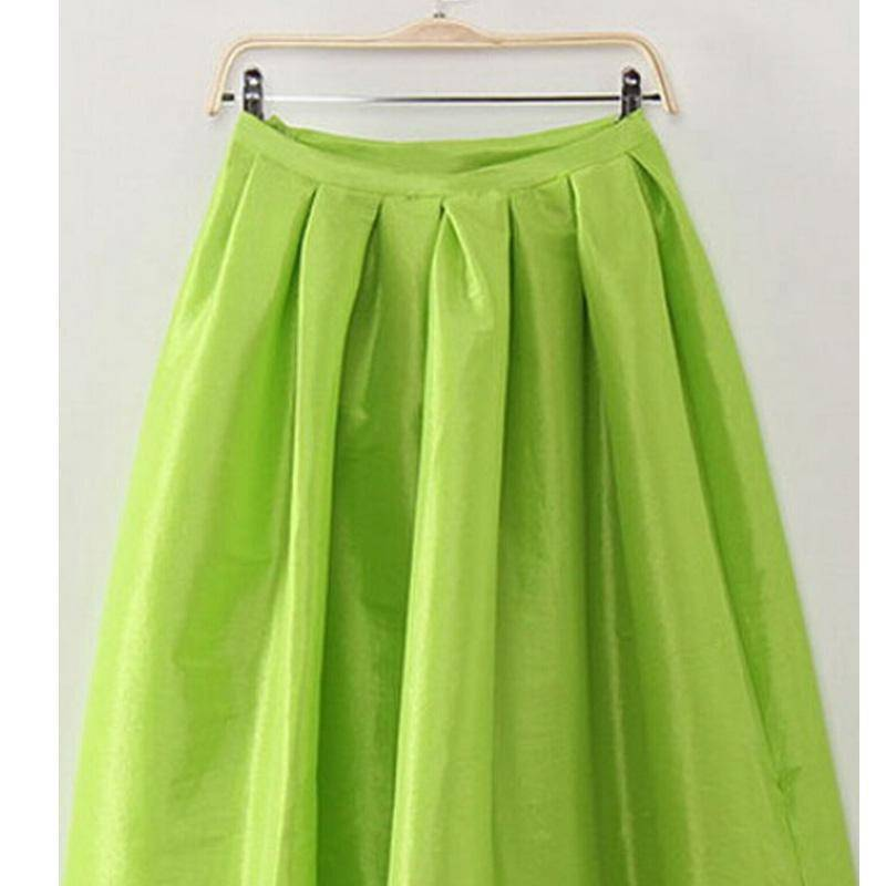 Clothing Green / S (US 4-6) Maxi Long Skirt Floor Length Ladies High Waisted Skirts  (US 4-20W)