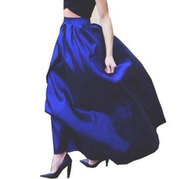 Clothing Maxi Long Skirt Floor Length Ladies High Waisted Skirts  (US 4-20W)