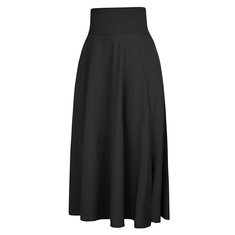 Clothing Maxi Skirt vintage Retro High Waist Pleated  Long Skirts Back Bow with Belt (US 6-16)