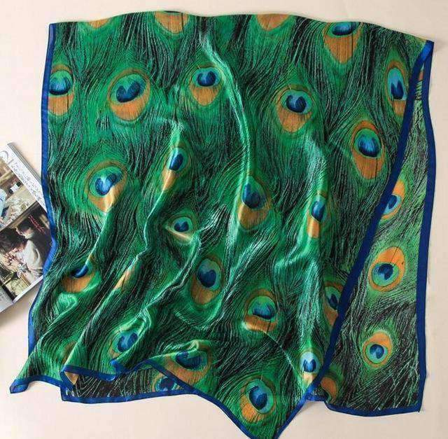 clothing Peacock 22 Designs, 100% Silk Scarf Wrap