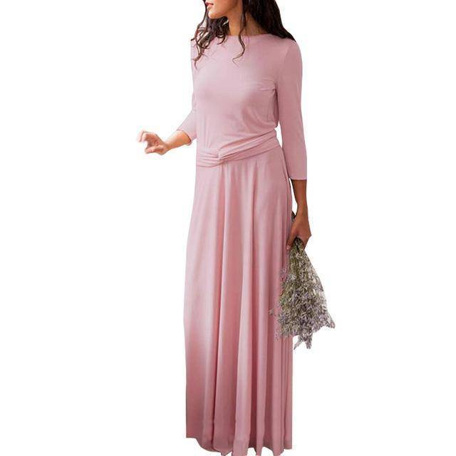 clothing Pink / US 2 - 4 The Wonder Dress - Long Sleeve Design, Multi way, infinity convertible dreses,  Petite Sizes (US 2- 10)