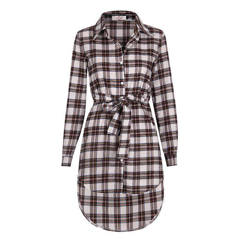 Clothing Plaid Shirt / Mini Dresses Women Clothes (US 6-16)