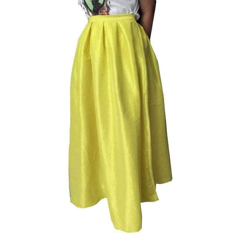 Clothing Plus Size - Maxi Long Skirt Floor Length High Waisted Skirts 115 cm (US 4-18W)