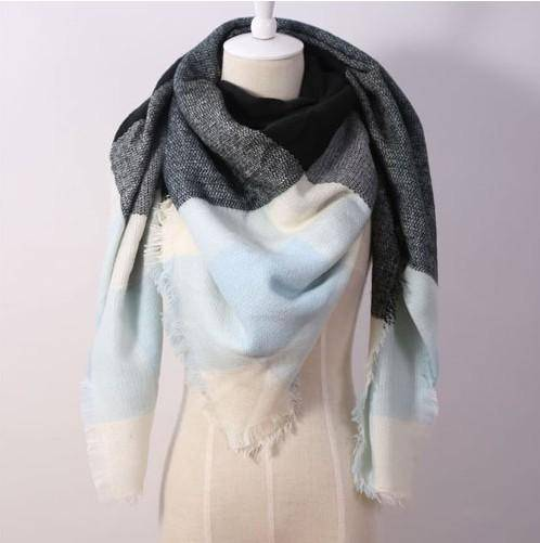 clothing teal Oversize Solid Color Winter Square Scarf, XL Women Blankets,  Luxury Shawl 140cm x 140cm