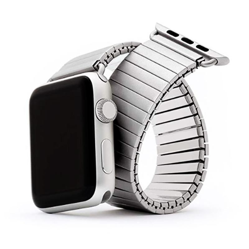 Correas de reloj Elasticity strap for apple watch band 44mm 42mm 40mm 38mm iwatch 5/4/3/2/1 link bracelet stainless steel watchband Accessories