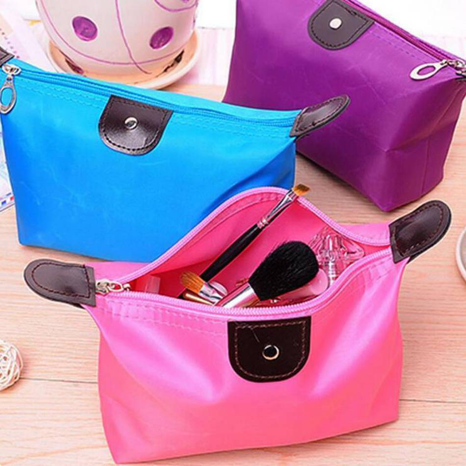 Cosmetic Bags & Cases 10 Colors, Small Waterproof Cosmetic bag