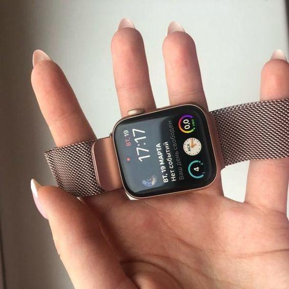 Apple Apple Watch Series 6 5 4 Band, Steel Magnetic Milanese Loop Watchbands