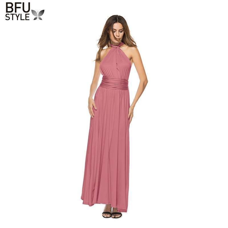 Dresses Sexy Women Bandage Maxi Dress Red Beach Long Dress Multiway Bridesmaids Convertible Wrap Party Dresses Robe Longue Femme