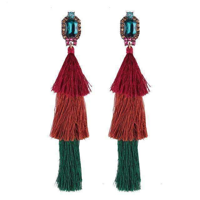 earrings 1 New Design Fashion Long Tassel Earrings Bohemian Wedding Jewelry Statement Hot Sale Dangle Drop Earring for Women
