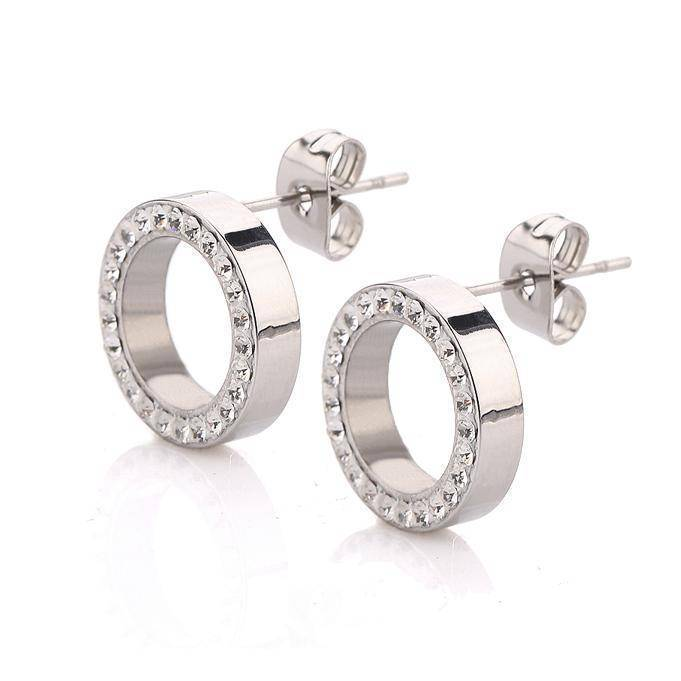 Earrings 316L Stainless Steel Earring Crystal Stud Earrings For Women Joyas Brincos Bijoux Jewelry Earings Fashion