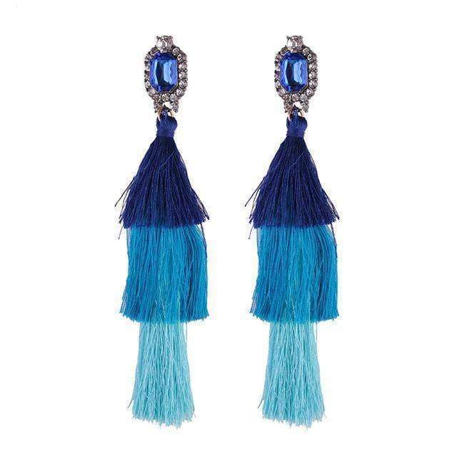 earrings 4 New Design Fashion Long Tassel Earrings Bohemian Wedding Jewelry Statement Hot Sale Dangle Drop Earring for Women