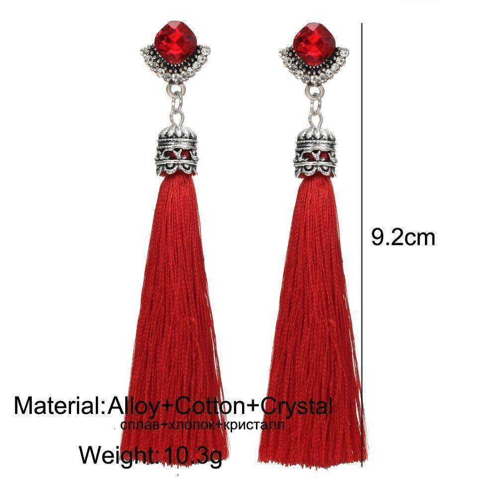 earrings Bohemian Long Tassel Earrings
