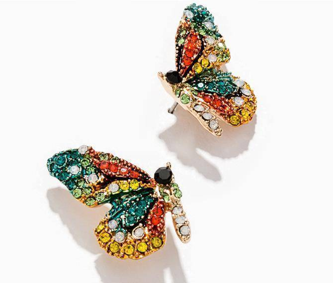 Earrings Crystal Butterfly Earring Studs
