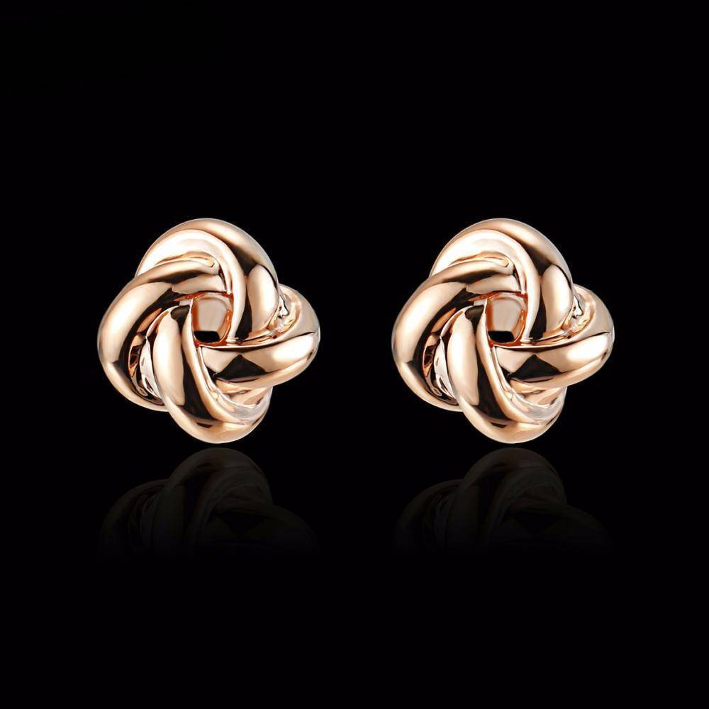 Earrings Double Love Twist Knot Stud Earrings