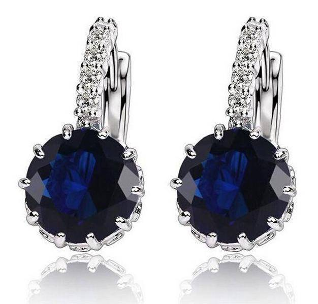 Earrings navy 9 Colors, Cubic Zirconia Drop Earrings