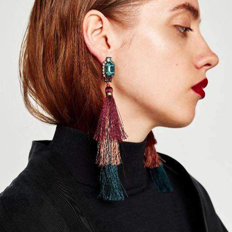 earrings New Design Fashion Long Tassel Earrings Bohemian Wedding Jewelry Statement Hot Sale Dangle Drop Earring for Women