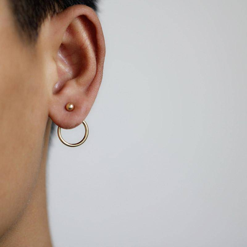 Earrings New ! Fashion jewelry  cute gold color Geometric round metal  stud  earrings best gift for women