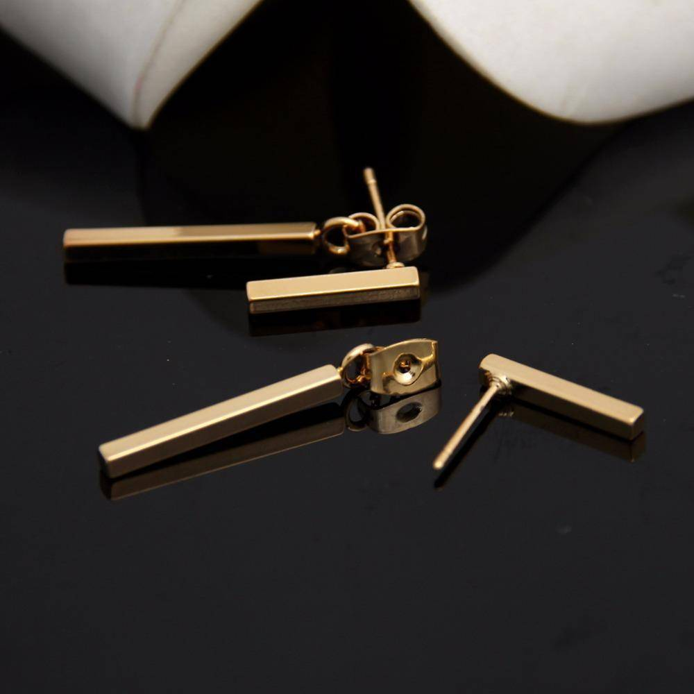 earrings Punk Style Minimalist T Bar Stud Earrings