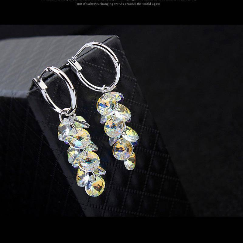 earrings Real Austrian Crystals Geometric Dangle earrings
