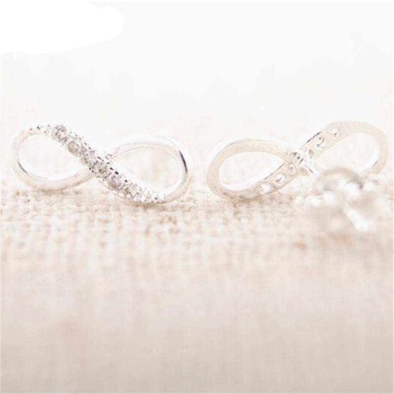 Earrings Silver Plated Free Inifinity stud earrings - silver, gold, and rose gold - Just pay shipping, Sale