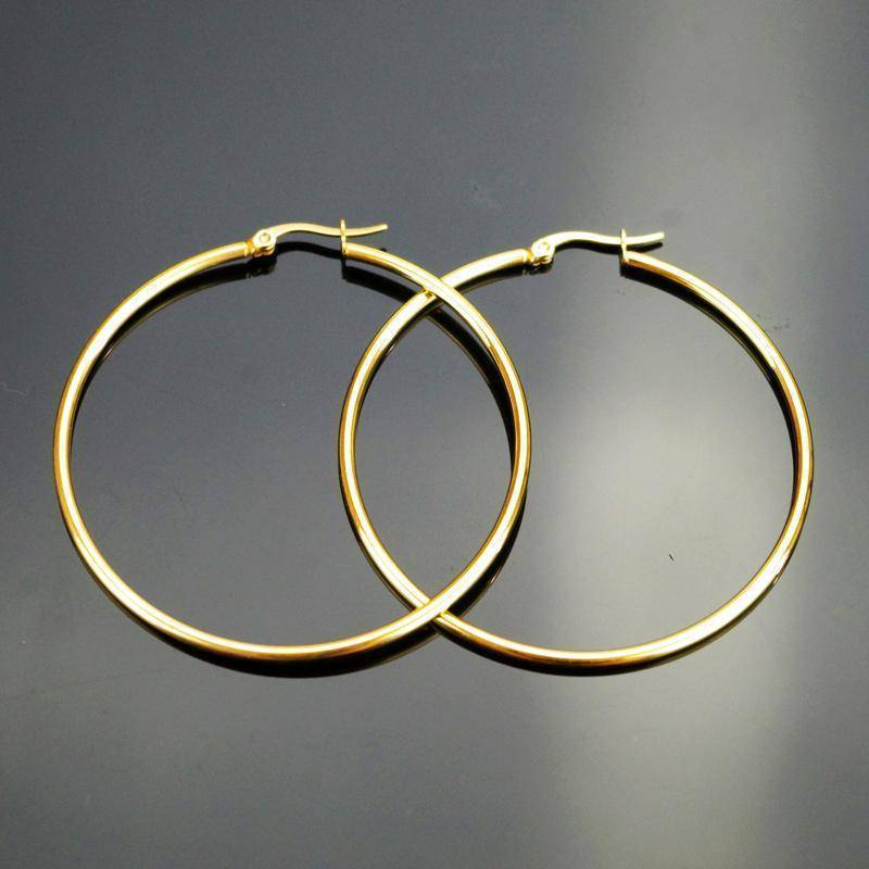 earrings Sizes: 20-70mm, Big Circle Classic Hoop Earrings, Stainless Steel