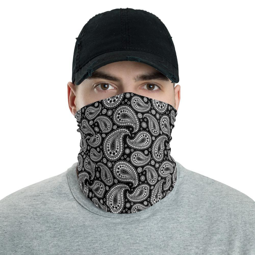 Face Mask Tubular Neck Warmer - Snood Scarf Biker Bandana Gift for Women Men - Multi-Use Sports Head Wrap - Retro Paisley