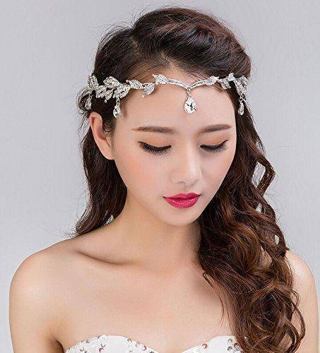 hair accessories Crystal Crown Tiara, Water drop Leaf Headband, Luxury Hair accessory, Good for Bridals, Prom, Princess, Pageant, Wedding