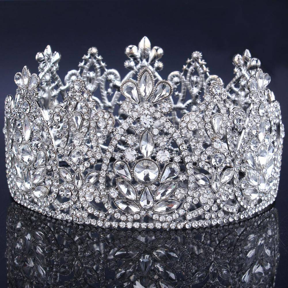 hair accessories Vintage Rhinestone bling Crown, Crystal Tiara, Good for Bridals, Prom, Princess, Pageant, Wedding Hair Accessories