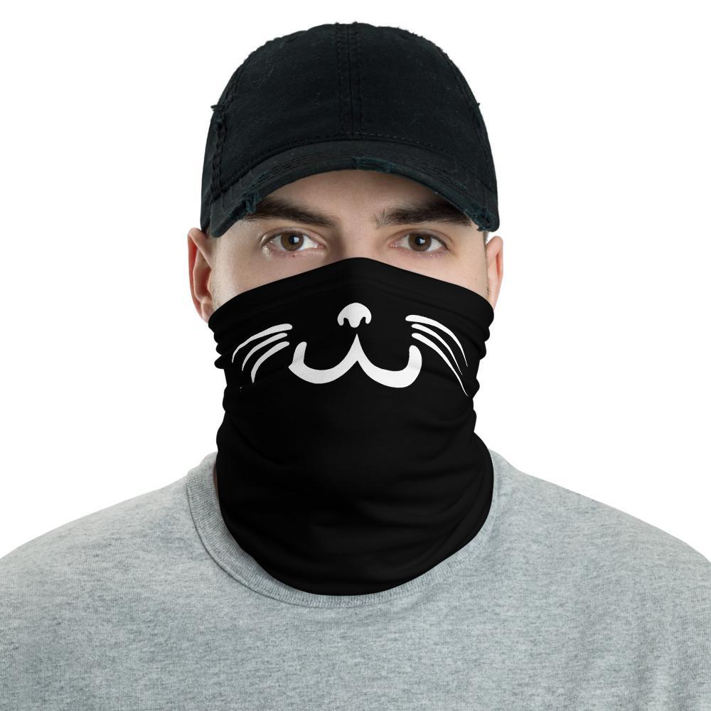 Hand Drawn Smiling Cat - Neck Gaiter