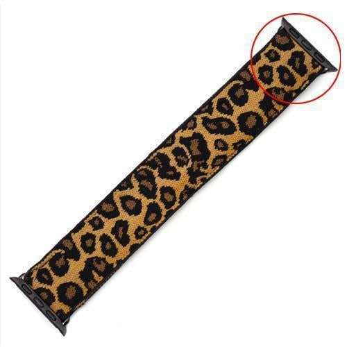 Home 11-Leopard w/ Black / 38mm Elastic Stretch apple watch band, Double print Layer strap, fits nike hermes sports Series 5 4 3 2 1 iwatch women 38mm 40mm 42mm 44mm