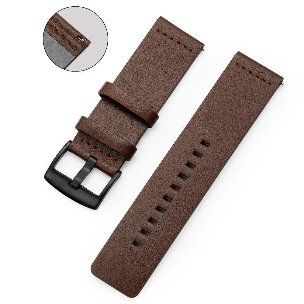 Home 20mm 22mm Genuine Leather Strap for Samsung Galaxy Watch 42 46mm Gear S3 Watch band Sport WatchBand Quick Release 18 24mm