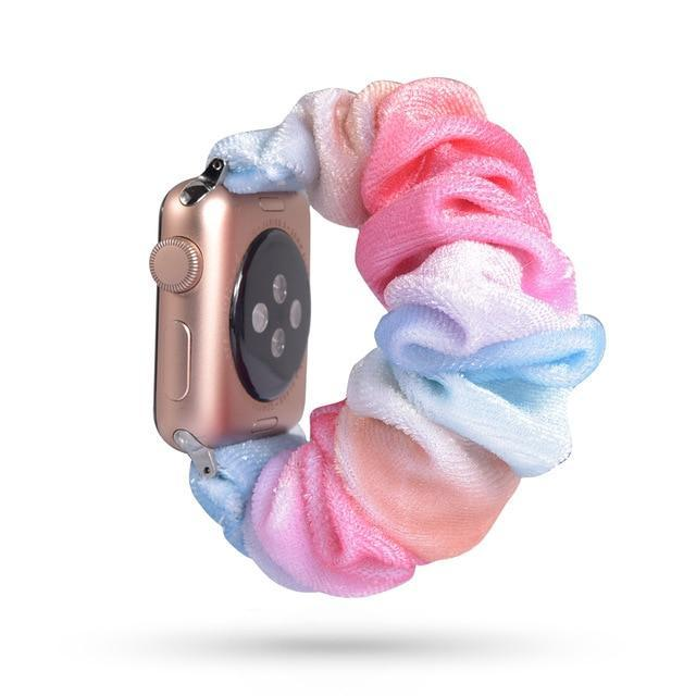 Home 49 / 42mm/44mm Apple Watch Band scrunchy, Stretch Scrunchie Elastic Watchband for 38mm/40mm 42mm/44mm iwatch Series 5 4 3