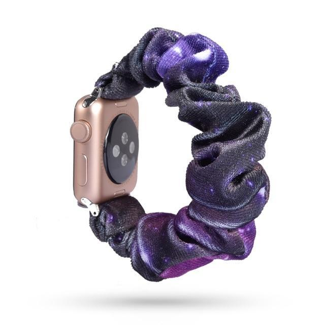 Home 50 / 42mm/44mm Apple Watch Band scrunchy, Stretch Scrunchie Elastic Watchband for 38mm/40mm 42mm/44mm iwatch Series 5 4 3