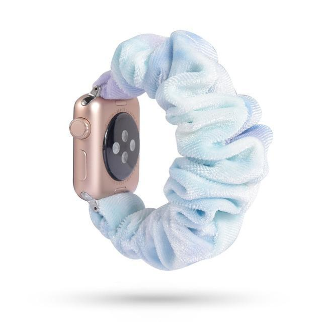 Home 51 / 42mm/44mm Apple Watch Band scrunchy, Stretch Scrunchie Elastic Watchband for 38mm/40mm 42mm/44mm iwatch Series 5 4 3