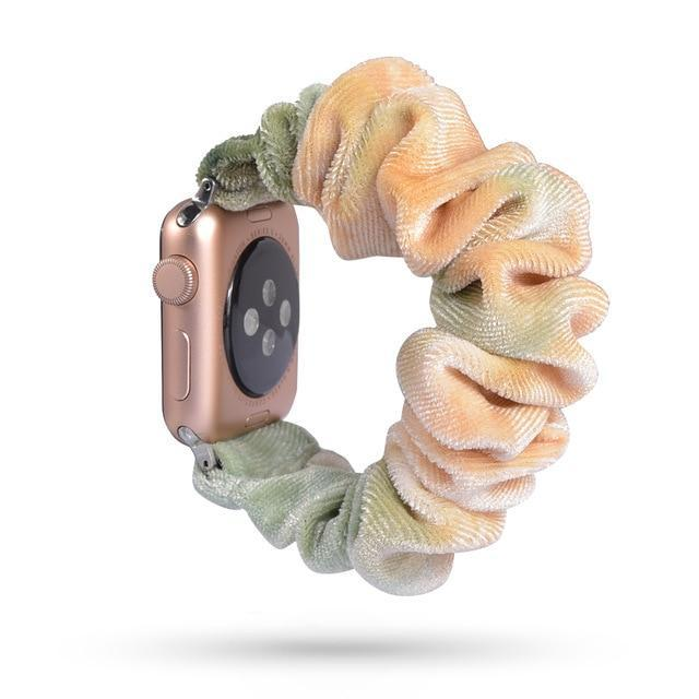 Home 53 / 42mm/44mm Apple Watch Band scrunchy, Stretch Scrunchie Elastic Watchband for 38mm/40mm 42mm/44mm iwatch Series 5 4 3