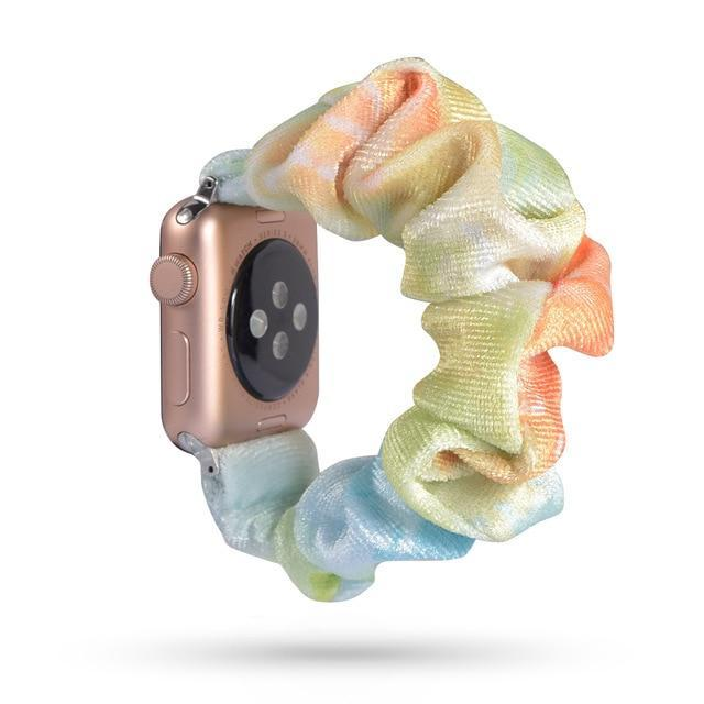 Home 55 / 42mm/44mm Apple Watch Band scrunchy, Stretch Scrunchie Elastic Watchband for 38mm/40mm 42mm/44mm iwatch Series 5 4 3