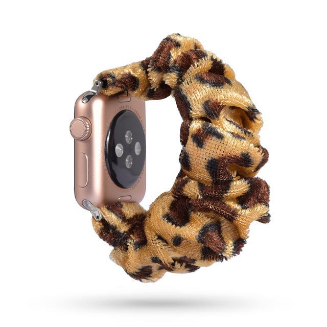 Home 56 / 42mm/44mm Apple Watch Band scrunchy, Stretch Scrunchie Elastic Watchband for 38mm/40mm 42mm/44mm iwatch Series 5 4 3