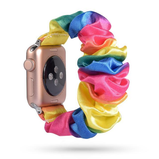 Home 59 / 42mm/44mm Apple Watch Band scrunchy, Stretch Scrunchie Elastic Watchband for 38mm/40mm 42mm/44mm iwatch Series 5 4 3