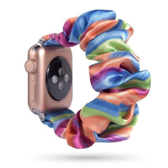 Home 60 / 42mm/44mm Apple Watch Band scrunchy, Stretch Scrunchie Elastic Watchband for 38mm/40mm 42mm/44mm iwatch Series 5 4 3