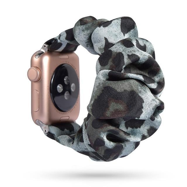 Home 61 / 42mm/44mm Apple Watch Band scrunchy, Stretch Scrunchie Elastic Watchband for 38mm/40mm 42mm/44mm iwatch Series 5 4 3