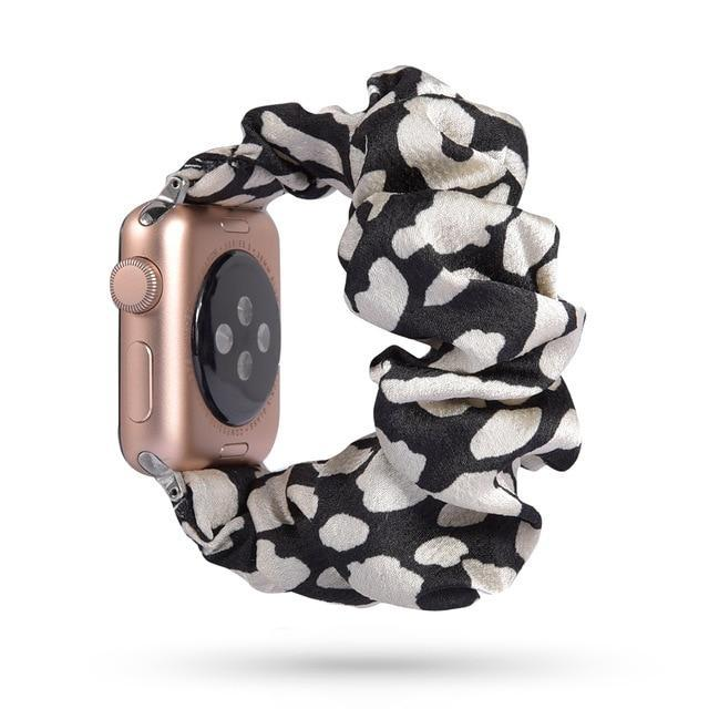 Home 67 / 42mm/44mm Apple Watch Band scrunchy, Stretch Scrunchie Elastic Watchband for 38mm/40mm 42mm/44mm iwatch Series 5 4 3