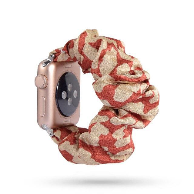 Home 70 / 42mm/44mm Apple Watch Band scrunchy, Stretch Scrunchie Elastic Watchband for 38mm/40mm 42mm/44mm iwatch Series 5 4 3