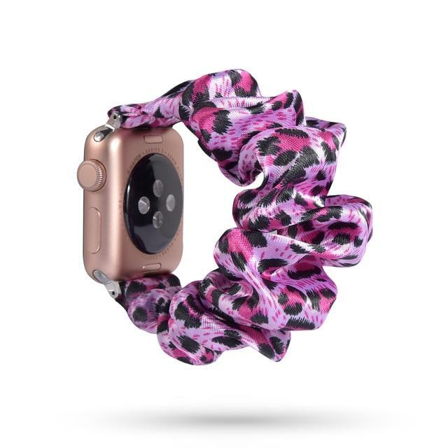Home 71 / 42mm/44mm Apple Watch Band scrunchy, Stretch Scrunchie Elastic Watchband for 38mm/40mm 42mm/44mm iwatch Series 5 4 3