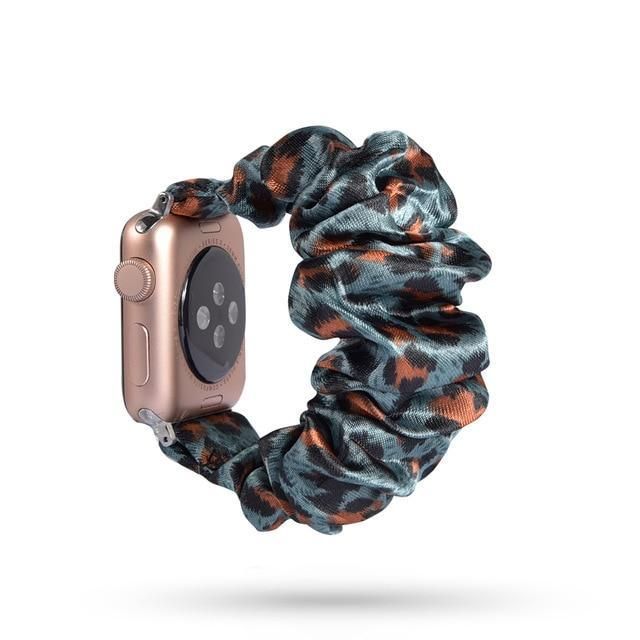 Home 74 / 42mm/44mm Apple Watch Band scrunchy, Stretch Scrunchie Elastic Watchband for 38mm/40mm 42mm/44mm iwatch Series 5 4 3