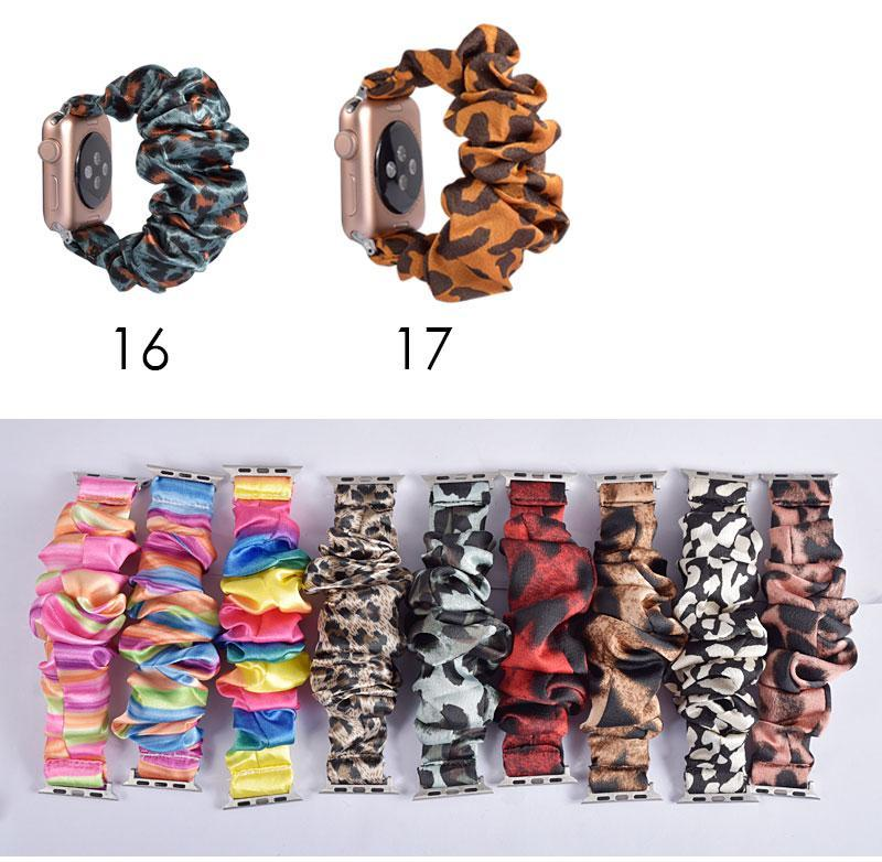 Home Apple Watch Band scrunchy, Stretch Scrunchie Elastic Watchband for 38mm/40mm 42mm/44mm iwatch Series 5 4 3