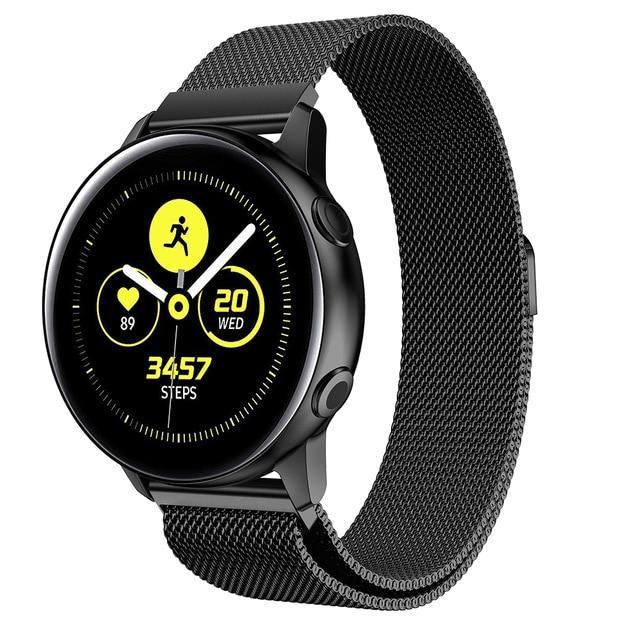 Home black / 20mm watch band Milanese strap For Samsung Galaxy watch Active 2 46mm/42mm Gear S3 Frontier band 22mm stainless steel bracelet Active2 40mm 44mm