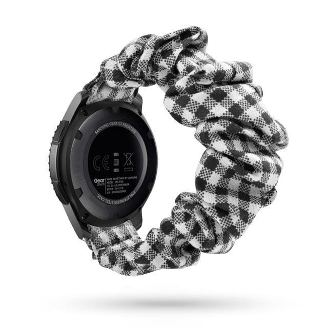 Home black checkered / 20mm watch band Elastic Watch Strap for samsung galaxy watch active 2 46mm 42mm huawei watch GT 2 strap gear s3 frontier amazfit bip strap 22 mm