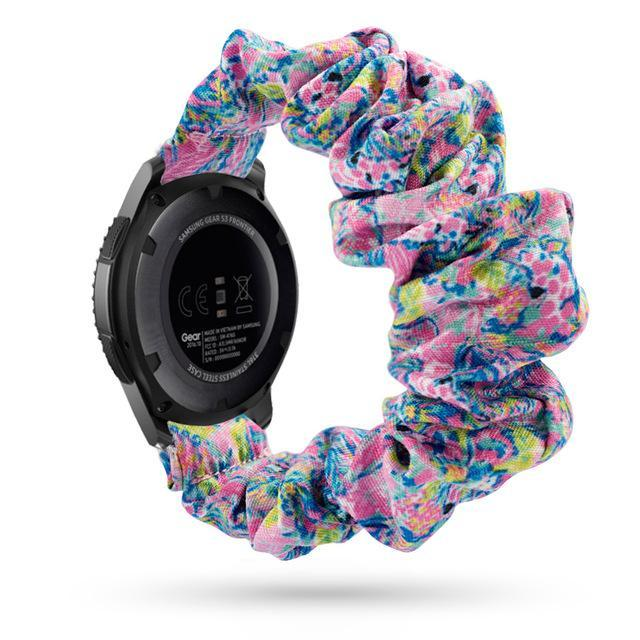 Home blue-pink abstract / 20mm watch band Elastic Watch Strap for samsung galaxy watch active 2 46mm 42mm huawei watch GT 2 strap gear s3 frontier amazfit bip strap 22 mm