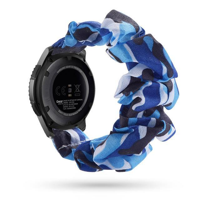 Home blue waves / 20mm watch band Elastic Watch Strap for samsung galaxy watch active 2 46mm 42mm huawei watch GT 2 strap gear s3 frontier amazfit bip strap 22 mm